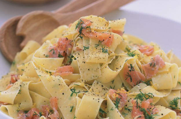 Creamy smoked salmon pasta