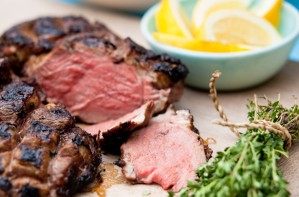 Sweet butterflied leg of lamb