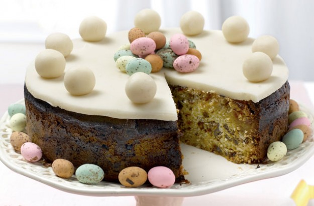 Mini eggs simnel cake