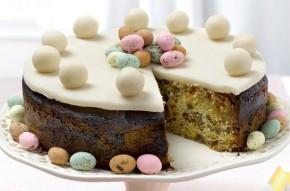 Mini eggs simnel cake