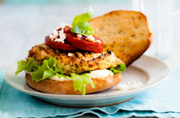 Quick and easy chicken burger