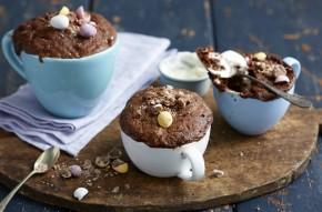 chocolate Mini Egg mug cake