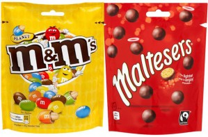 Maltesers and M&M's