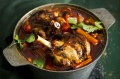 Harissa and vegetable lamb shanks