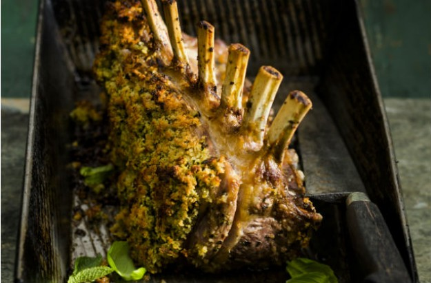 garlic and herb crusted lamb