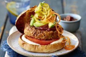 Flexitarian cashew pork burger