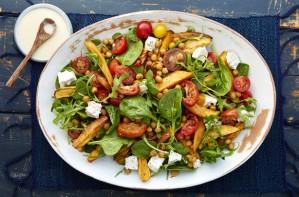 Moroccan chickpea and sweet potato salad