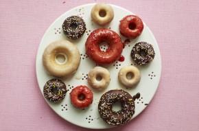 Iced doughnut cake