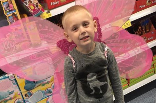 Little boy with fairy wings