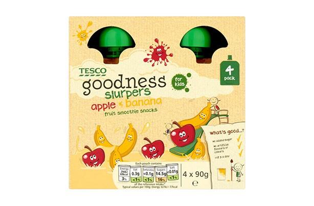 Tesco Goodness for Kids Fruit Slurpers Apple & Banana