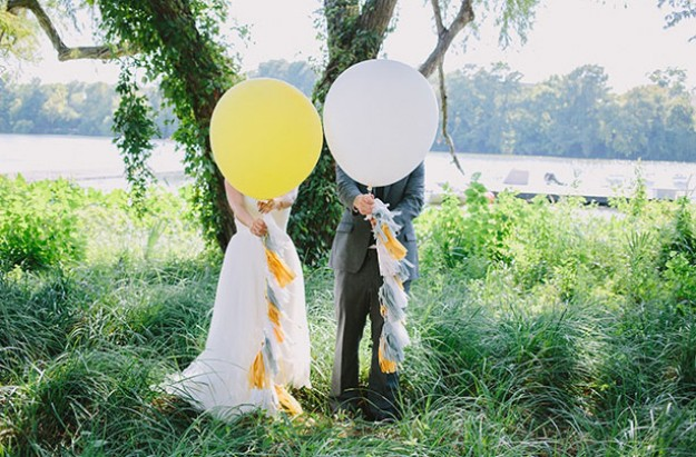 wedding couple bride and groom balloons - Child Pictures Free