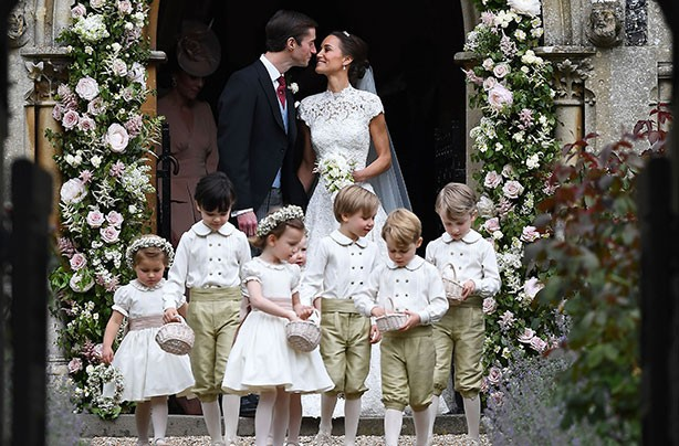 Prince George Princess Charlotte Pippa wedding