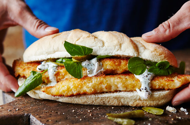 Joe wicks 39 fish finger sandwich recipe goodtoknow for Fish sandwich recipe