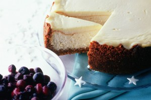 Baked vanilla New York cheesecake