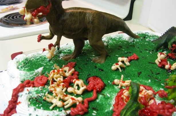In A Scene That Resembles Jurassic Park Crossed With The Rugrats, Someone  Clearly Took The Baby Shower Theme To A ...