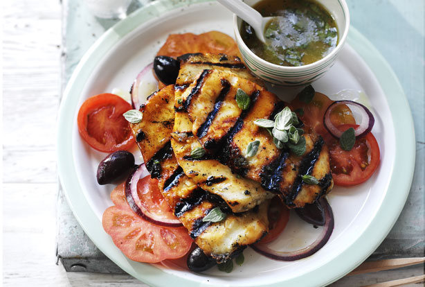 Grilled halloumi with honey recipe - goodtoknow