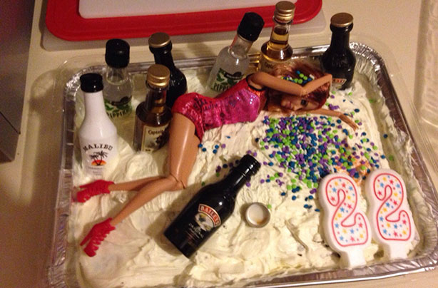Drunk Barbie Birthday Cake Images