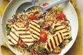 Quinoa and halloumi