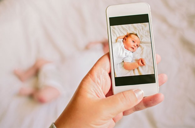 baby phone stock
