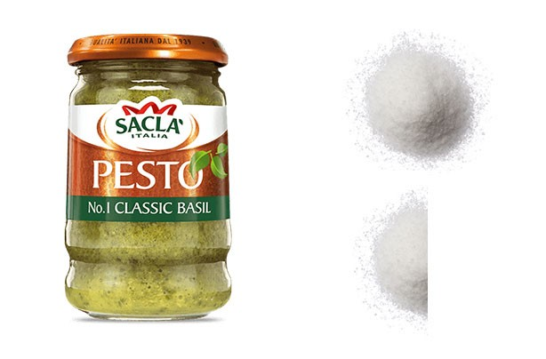 Salt shockers pesto