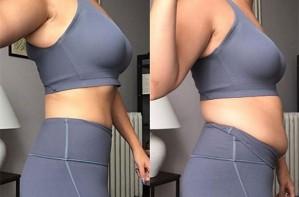 Blogger's tummy control leggings post