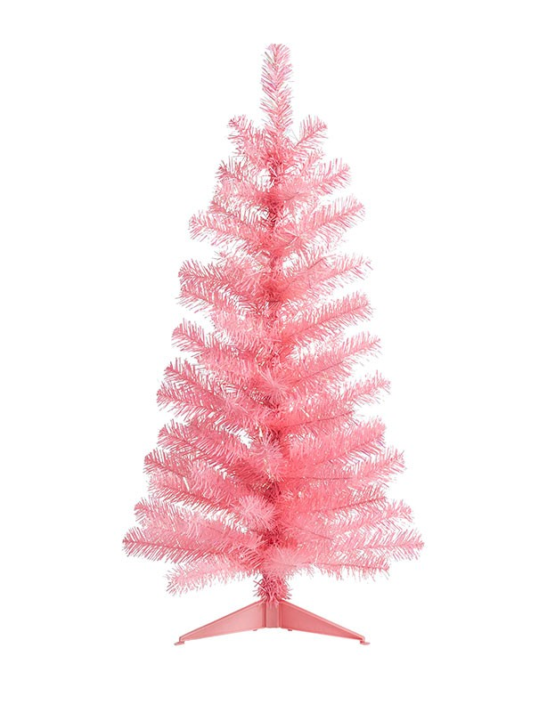3ft Orelle pink artificial Christmas tree, £4, B&Q