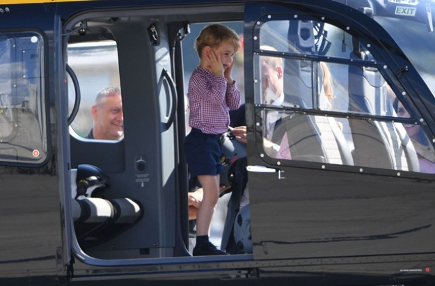 Prince William reveals George is 'obsessed' with police