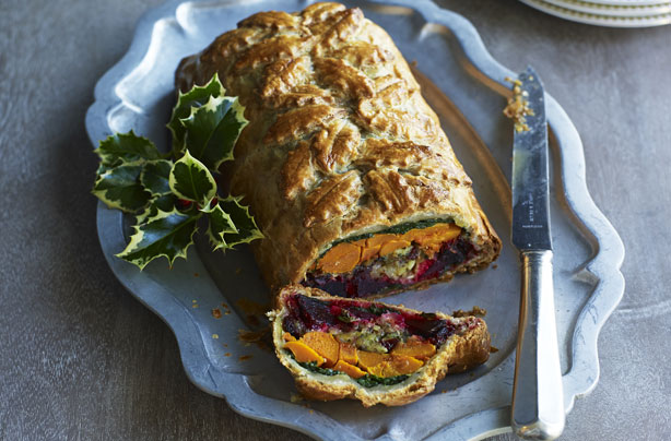 Squash And Beetroot Vegetarian Wellington Recipe Goodtoknow