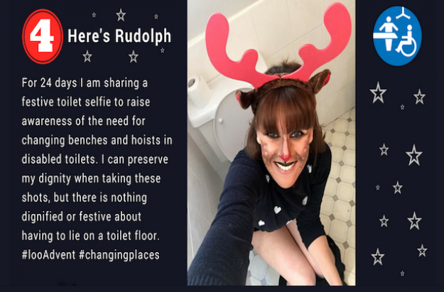 Loo advent snap from campaigner Sarah Brisdion