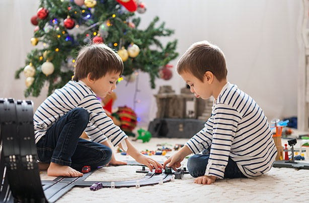 Top toys for Christmas, boys playing