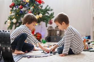 Top toys for Christmas, boys playing