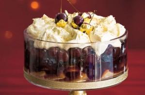 zabaglione black cherry trifle