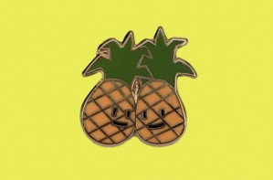 Pineapple pin badges