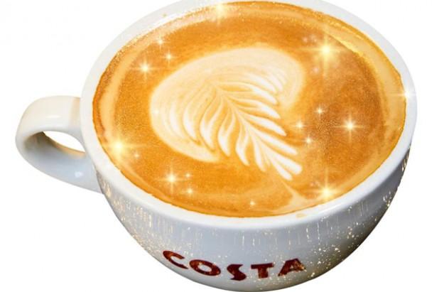 costa coffee shimmer glitter coffee