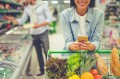 Woman shopping, how to have a healthy January, diet, vegetables