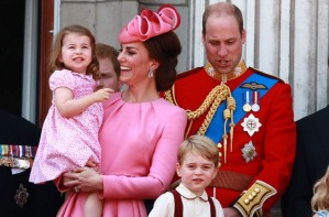 Princess Charlotte and Prince George with Kate Middleton and Prince William