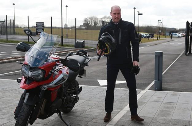 Prince William with motorbike