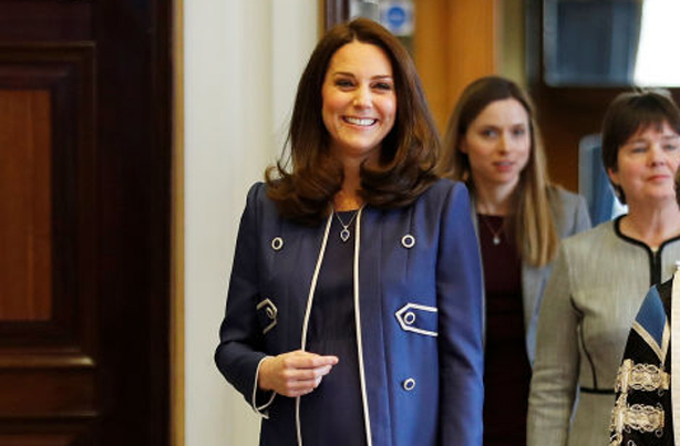 Pregnant Kate Middleton Glows During Nursing Campaign Launch