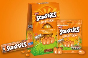 Orange Smarties Easter egg